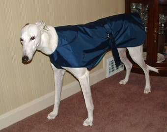 R11 Light Weight Navy Greyhound Raincoat.  Free Shipping!