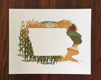 Iowa State Print - Corn Fields
