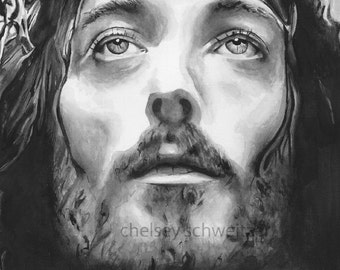 Jesus of Nazareth Watercolor Illustration Signed Giclee Print