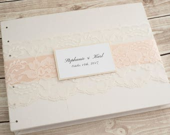 Wedding Guest Book, Ivory Guest Book, Wedding Album, Guest Book Wedding, Bridal Guest Book, Photo Guest Book, Wedding Gifts, MADE TO ORDER