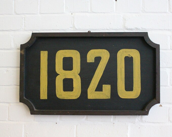 Early 20th Century Wooden French Train Number Sign