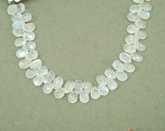 Moonstone Briolette Drop Shape 7""