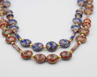 Assorted Cloisonne Beads
