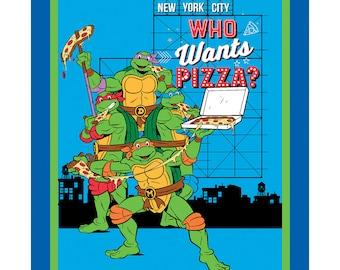 Per Panel, Teenage Mutant Ninja Turtles Who Wants Pizza Fabric From Springs Creative