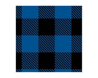 Black/Blue Buffalo FLEECE Fabric From Camelot
