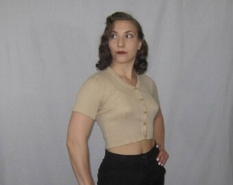 1950's Cropped Knit Sweater