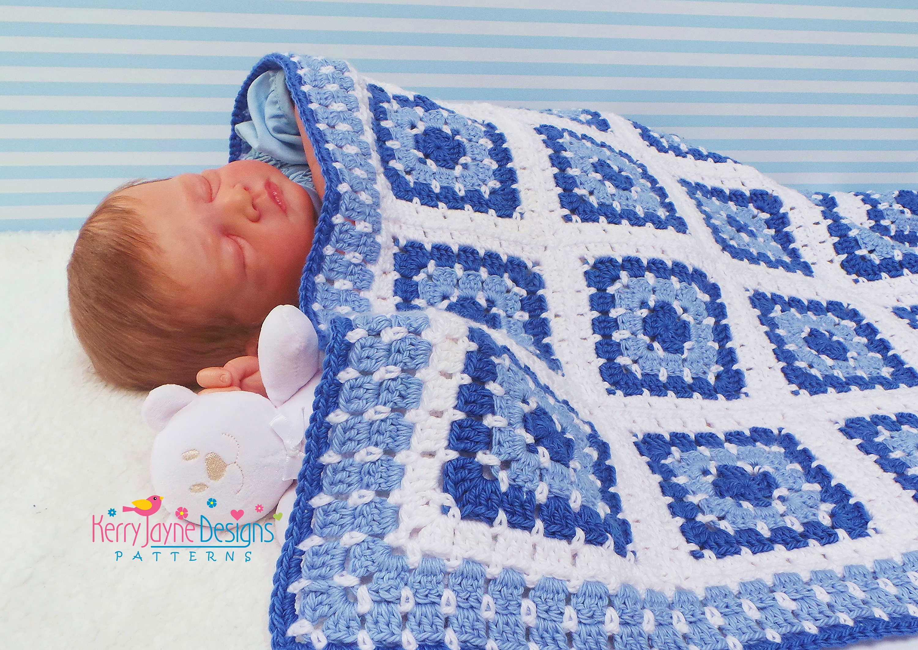 Poolside granny square blanket pattern crochet baby blanket this is a digital file bankloansurffo Choice Image