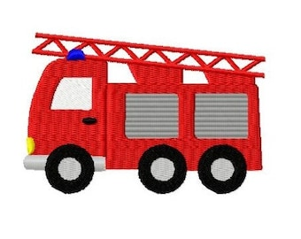 Embroidery Design Ladder Truck 4'x4' - DIGITAL DOWNLOAD PRODUCT