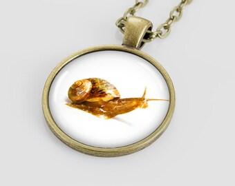 Snail necklace Snail pendant Snail jewelry for kids Animal Snail for children Snail necklace Snail pendant Snail art by Nataly Novosad