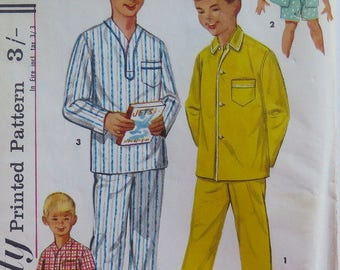 Boy's Pajama Pattern//Vintage Boy's Pajama Pattern//Boy's Pajamas//Simplicity 1434