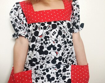 Mickey Mouse Disney Dress, 3t, 4t, 5t, 6, 7, 8, Disneyland dress, Disney vacation dress, disneyworld dress girls dress toddler