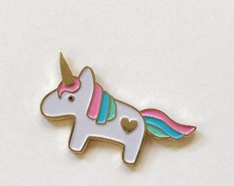 Limited Edition Soft Enamel - Unicorn Lapel Pin
