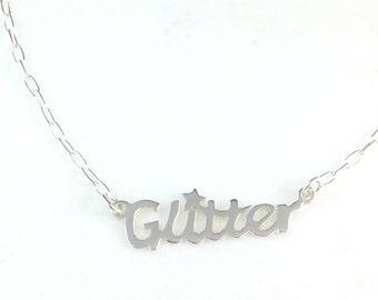 Glitter silver necklace #makeforgood