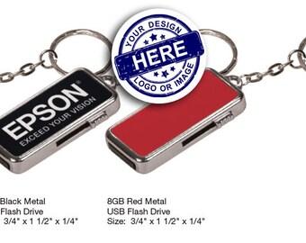 8 GB USB - Anodized Aluminum Key Chain