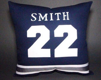"""Dallas Cowboys Inspired Sports Pillow-16x16"""" - Personalize your pillow with the Name & Number of your choice"""
