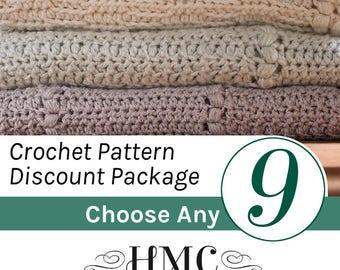 Crochet Pattern Discount Package - Create Your Own Pattern Package - Choose Any 9 Crochet Patterns by Hidden Meadow Crochet