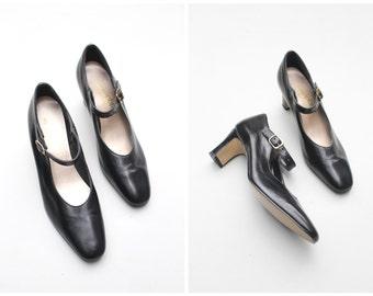 zapatos mary janes, mary janes negros, zapatos de los 60, zapatos vintage