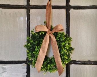 MINI Window Wreath, MINI Boxwood Wreath, Window Wreath, Christmas Window Wreath, Christmas Boxwood Wreath