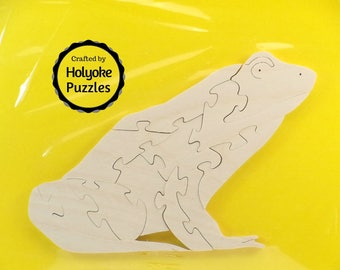 Frog Wood Puzzle - Color Your Own Craft Puzzle - Kids Craft Project