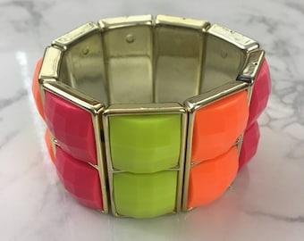 Neon Color-Block Bangle