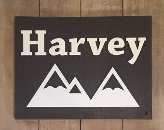 Mountains Nursery Sign