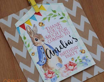 Personalised PETER RABBIT Party Bags Pink Blue Birthday Treat Sweetie Favor Activity Stationary