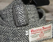 Harris Tweed guitar strap. Handmade guitar strap in leather and Harris Tweed, adjustable guitar strap