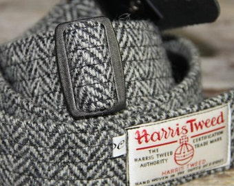 Harris Tweed guitar strap. Handmade guitar strap in leather and Harris Tweed, adjustable guitar strap