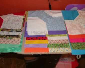 Bowtie Quilt Blocks - Ready To Assemble Quilt Blocks - Make Your Own Quilt Kit