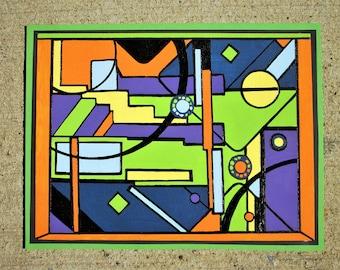 Contemporary Modern Abstract Mixed Media Original Painting
