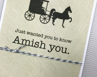 Amish You card