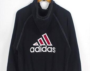 ADIDAS EQUIPMENT Sweatshirts Women Medium Vintage 1980's Adidas Dmc Sportswear Pullover Adidas Hoodie Sweater Adidas Jumper Size M