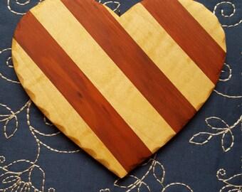 Wooden Flag Heart