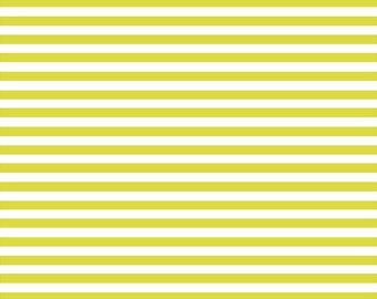 Lime and white stripe craft  vinyl sheet - HTV or Adhesive Vinyl -  stripe pattern HTV3022
