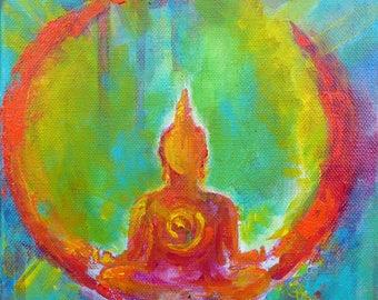 "Buddha - ""Believe"" Print on Canvas"