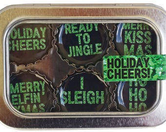 Holiday Cheers Magnet Set
