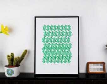 Handmade Screen Print 'Repeat'