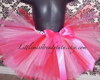 Pink and Red Tutu, Valentine's Day Tutu, Pink Tutu Skirt, Red Tutu Skirt, Valentine's Tutu Skirt, Girls Tutu Skirt, Birthday Tutu