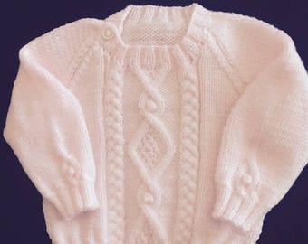 Irish Baby Sweater