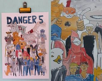 Danger 5, Series 1 Team Illustration