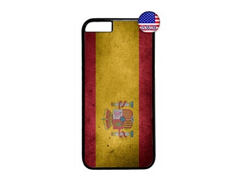 Spain Flag Black Case Cover for iPhone 4 4s 5 5s  5C 6 6s 6 Plus 7 7 Plus iPod Touch 4 5 6 case Cover