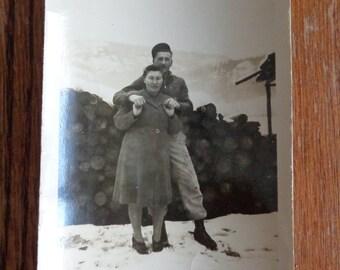 Antique Original Photograph Vintage Photo Black White Photograph Couples Photograph Old Photo Black and White