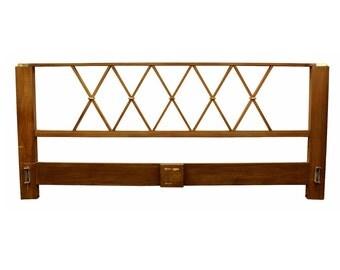 Mid Century Modern Paul Frankl for Johnson Birch & Brass King Sized Headboard