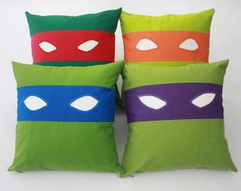Teenage Mutant Ninja Turtles Pillow-Raphael-Teenage Mutant Ninja Turtles nursery pillow