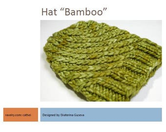 Knitting Pattern-Bamboo Hat