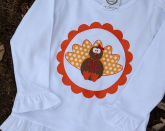Toddler Thanksgiving Shirt; Vinyl Thanksgiving Shirt; Thanksgiving Turkey Shirt; Personalized Vinyl Thanksgiving Shirt; Turkey Shirt