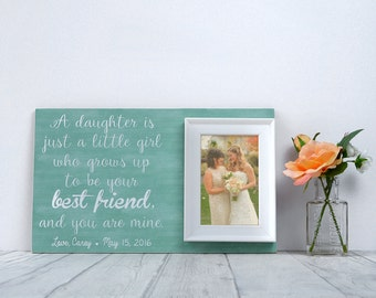 Mother Of The Bride Wedding Gift - Gift For Mom - Custom Wedding Frame - Parents Of The Bride Gift - Parents Wedding Gift - Thank You Gift