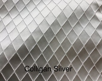 Free shipping! Fabric by the yard: Colligan Silver