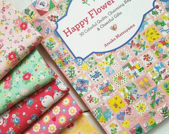 Happy Flowers Quilts Book by Atsuko Matsuyama -30 Colorful Quilts **Free shipping***