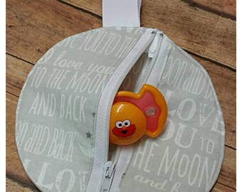 Pacifier pouch, Binky bag, Babyshower gift idea, Accessory pouch, Paci pouch, Unisex gift idea, Nursery design idea, Expecting announcement